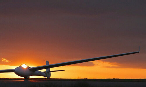 Glider Sunset Soaring Engine