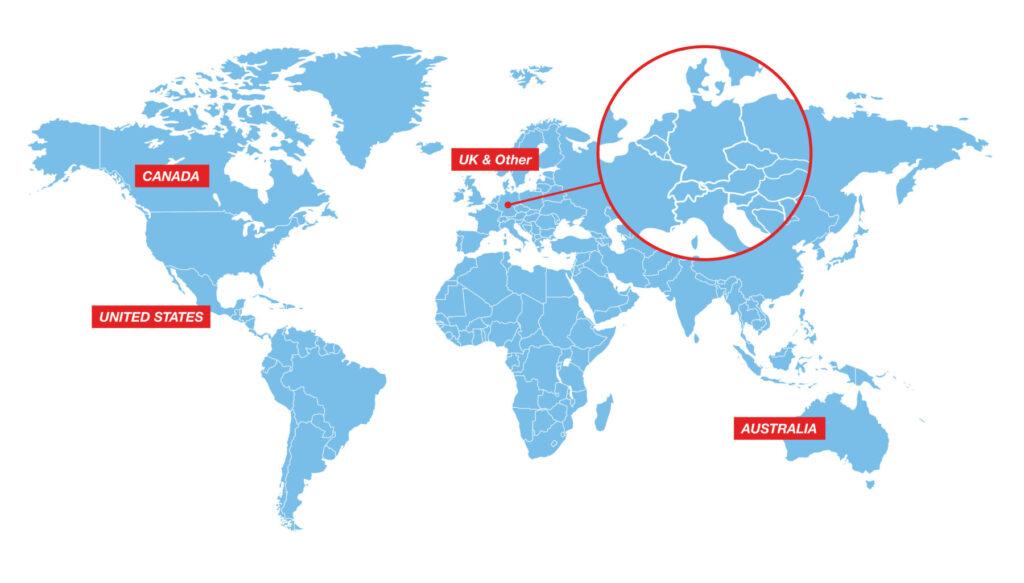 World Map Gliding